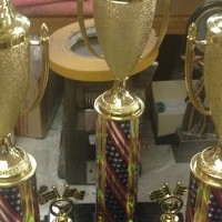 Wayne-Holmes Soapbox Derby Trophies look absolutely stunning! Nice Work!